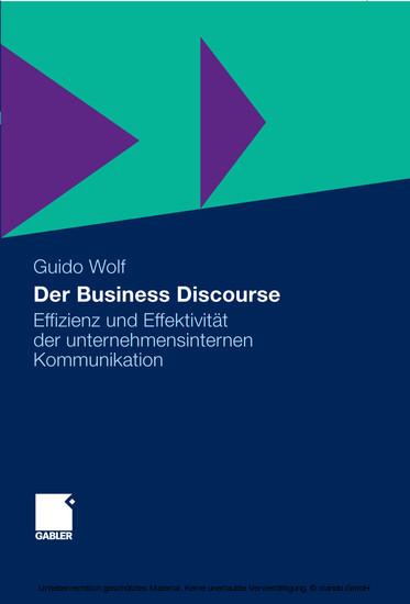 Der Business Discourse - Blick ins Buch