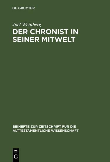 Der Chronist in seiner Mitwelt - Blick ins Buch