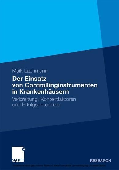 Der Einsatz von Controllinginstrumenten in Krankenhäusern - Blick ins Buch