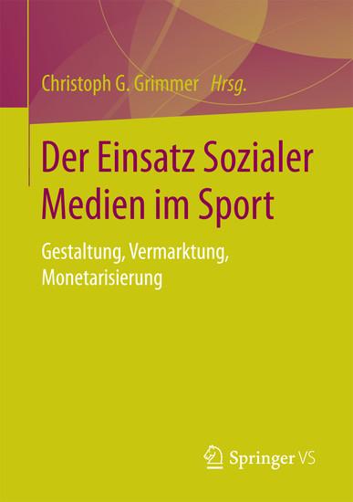 Der Einsatz Sozialer Medien im Sport - Blick ins Buch