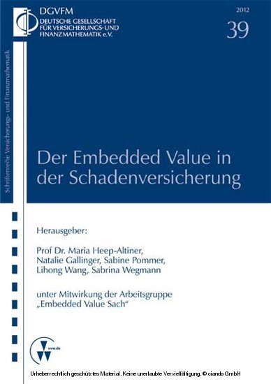 Der Embedded Value in der Schadenversicherung - Blick ins Buch