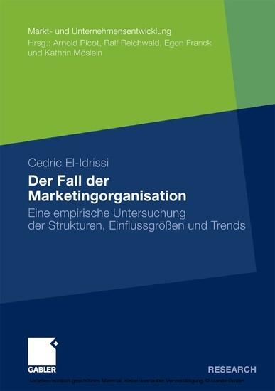 Der Fall der Marketingorganisation - Blick ins Buch