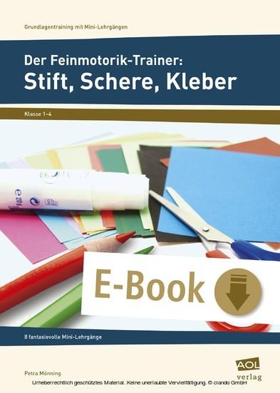Der Feinmotorik-Trainer: Stift, Schere, Kleber - Blick ins Buch