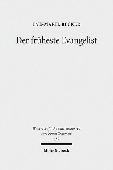 Der früheste Evangelist - Blick ins Buch