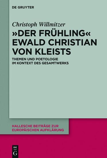 'Der Frühling' Ewald Christian von Kleists - Blick ins Buch