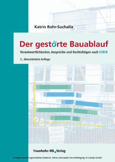 Der gestörte Bauablauf - Blick ins Buch