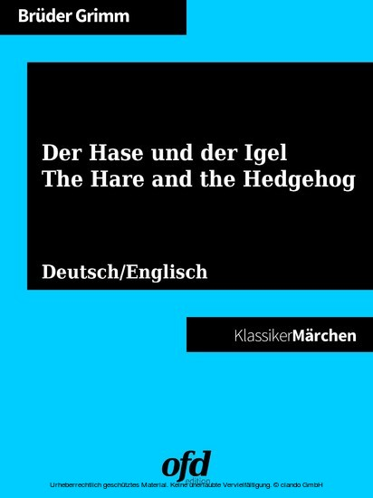 Der Hase und der Igel - The Hare and the Hedgehog - Blick ins Buch