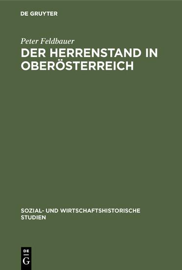 Der Herrenstand in Oberösterreich - Blick ins Buch