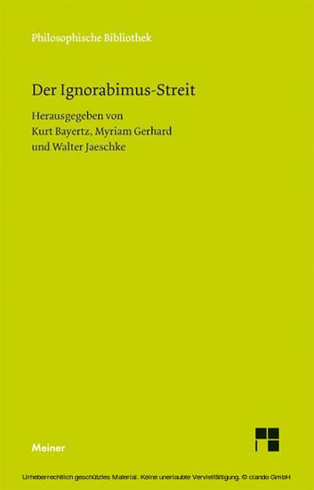 Der Ignorabimus-Streit - Blick ins Buch