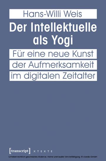 Der Intellektuelle als Yogi - Blick ins Buch