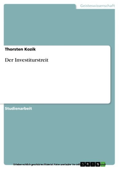 Der Investiturstreit - Blick ins Buch