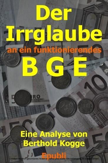 Der Irrglaube BGE - Blick ins Buch