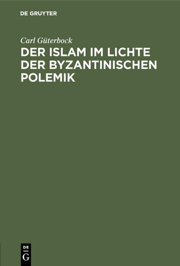 Der Islam im Lichte der byzantinischen Polemik - Blick ins Buch