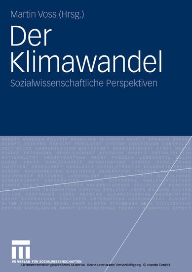 Der Klimawandel - Blick ins Buch