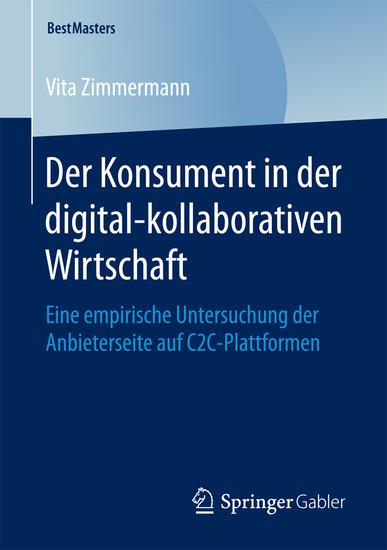 Der Konsument in der digital-kollaborativen Wirtschaft - Blick ins Buch