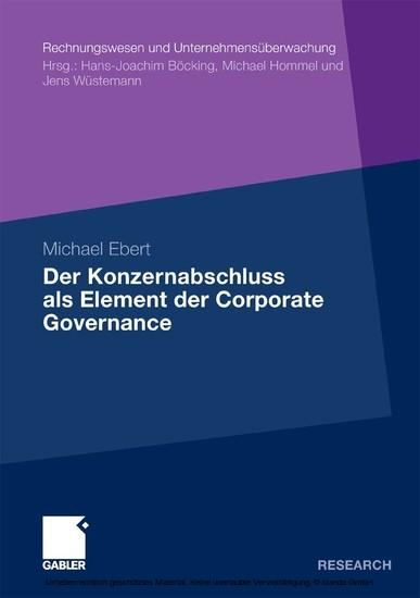 Der Konzernabschluss als Element der Corporate Governance - Blick ins Buch