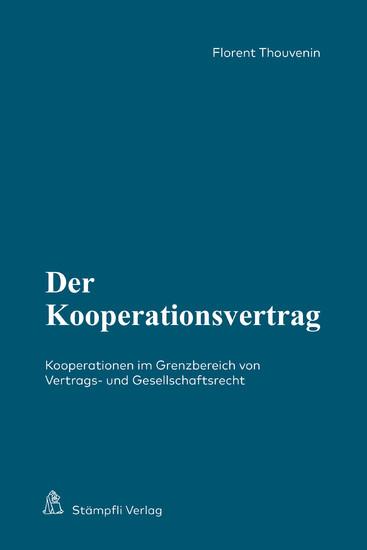 Der Kooperationsvertrag - Blick ins Buch