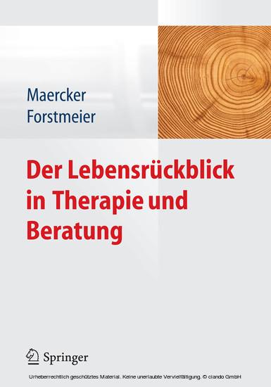 Der Lebensrückblick in Therapie und Beratung - Blick ins Buch