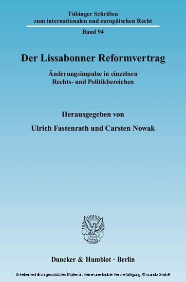 Der Lissabonner Reformvertrag. - Blick ins Buch