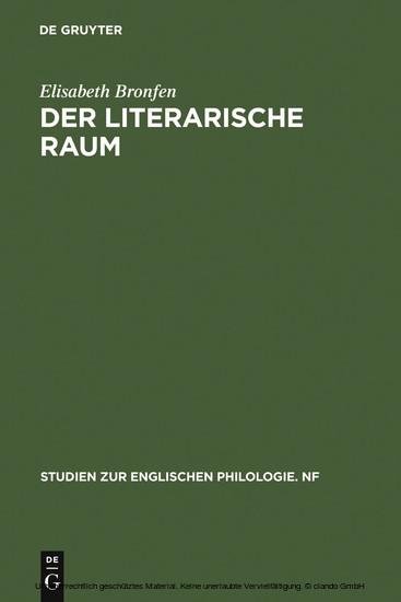 Der literarische Raum - Blick ins Buch
