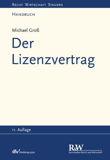 Der Lizenzvertrag - Blick ins Buch