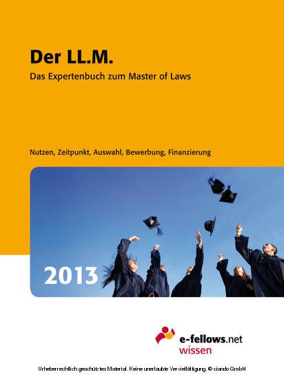 Der LL.M. 2013 - Blick ins Buch