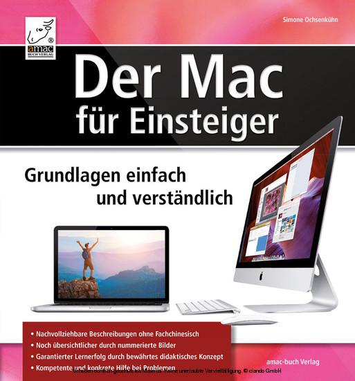 Der Mac für Einsteiger - Grundlagen einfach und verständlich - Blick ins Buch