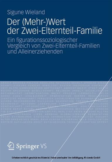 Der (Mehr-)Wert der Zwei-Elternteil-Familie - Blick ins Buch