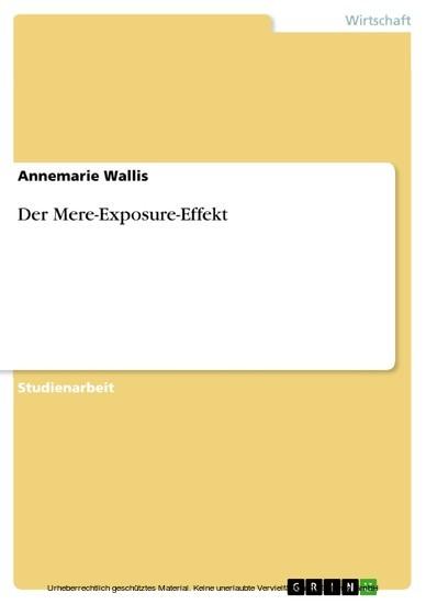 Der Mere-Exposure-Effekt - Blick ins Buch