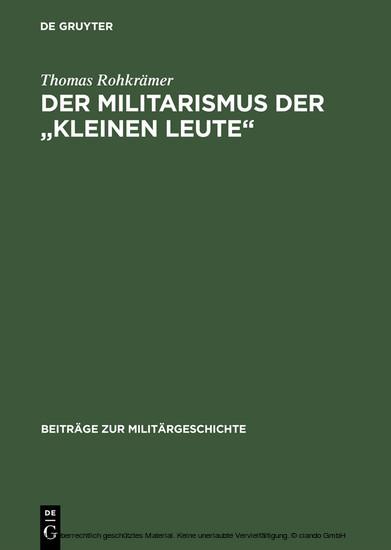 Der Militarismus der 'kleinen Leute' - Blick ins Buch