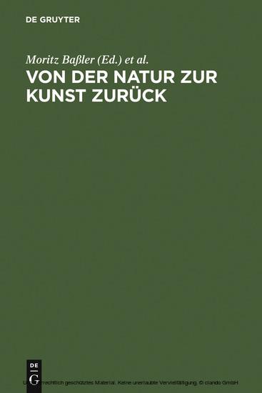 Von der Natur zur Kunst zurück - Blick ins Buch