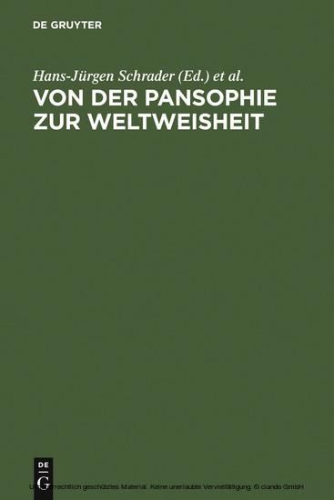 Von der Pansophie zur Weltweisheit - Blick ins Buch
