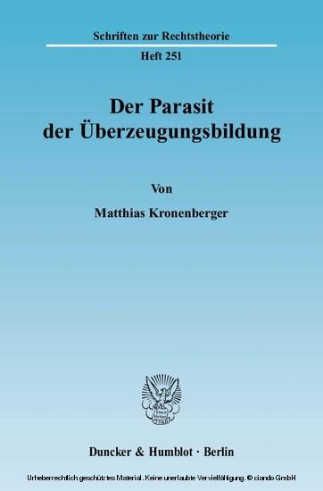 Der Parasit der Überzeugungsbildung. - Blick ins Buch