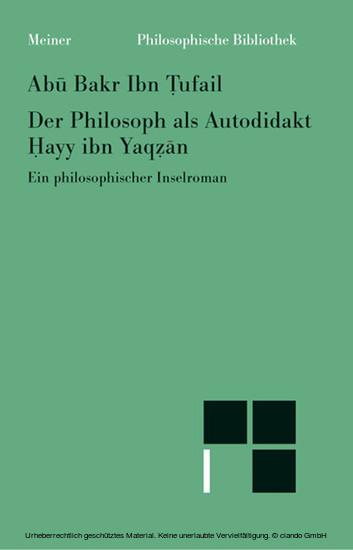 Der Philosoph als Autodidakt - Blick ins Buch