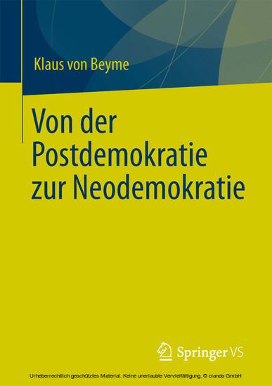 Von der Postdemokratie zur Neodemokratie - Blick ins Buch