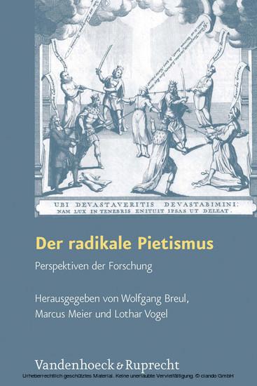 Der radikale Pietismus - Blick ins Buch