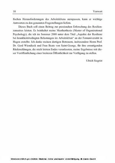 Der Resilienzprozess - Blick ins Buch