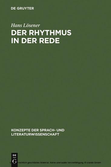 Der Rhythmus in der Rede - Blick ins Buch
