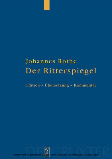 Der Ritterspiegel - Blick ins Buch