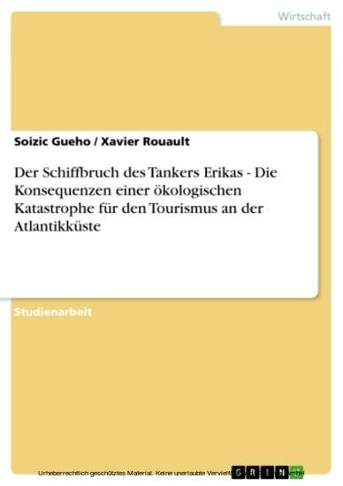 Der Schiffbruch des Tankers Erikas - Die Konsequenzen einer ökologischen Katastrophe für den Tourismus an der Atlantikküste - Blick ins Buch