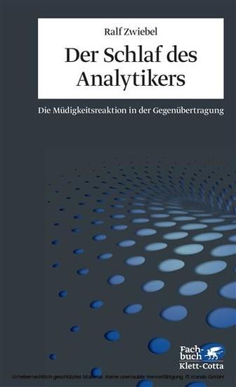 Der Schlaf des Analytikers - Blick ins Buch