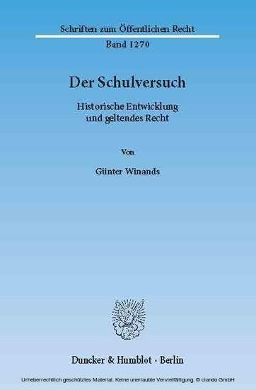 Der Schulversuch. - Blick ins Buch