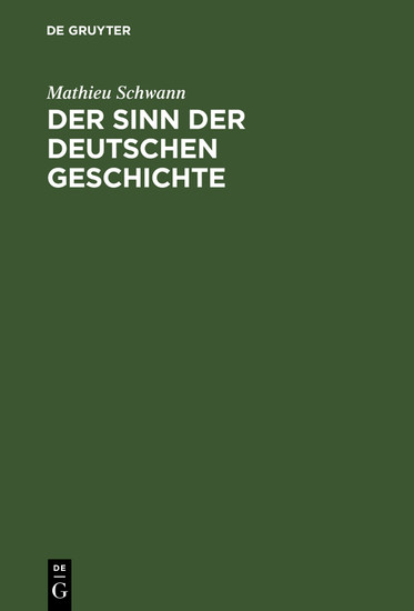 Der Sinn der deutschen Geschichte - Blick ins Buch