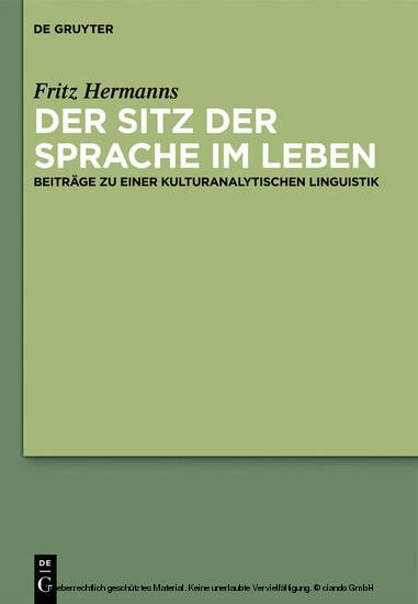 Der Sitz der Sprache im Leben - Blick ins Buch
