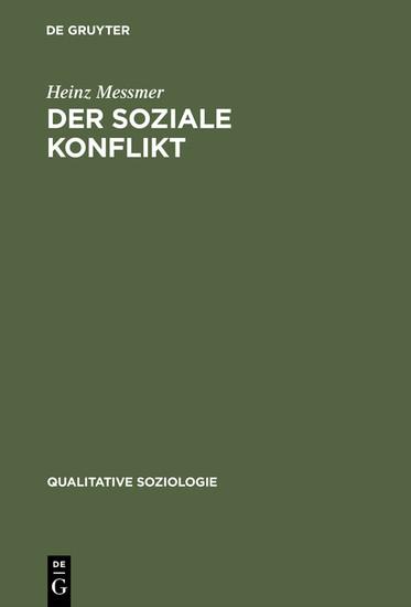 Der soziale Konflikt - Blick ins Buch