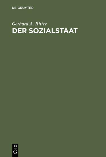Der Sozialstaat - Blick ins Buch