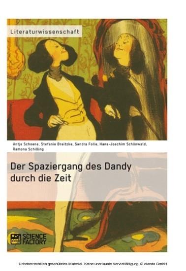 Der Spaziergang des Dandy durch die Zeit - Blick ins Buch