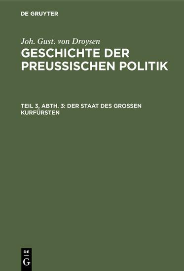 Der Staat des grossen Kurfürsten - Blick ins Buch