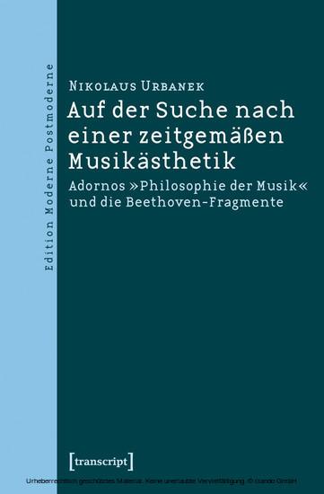 Auf der Suche nach einer zeitgemäßen Musikästhetik - Blick ins Buch