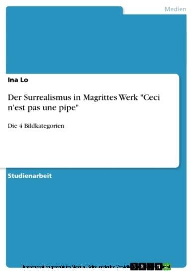 Der Surrealismus in Magrittes Werk 'Ceci n'est pas une pipe' - Blick ins Buch